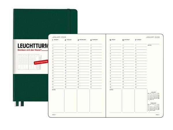 Agendahülle GCF Leder 10x17cm schwarz leer, Leder
