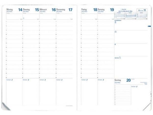 Agenda Quo Vadis Prenote Ersatzeinlage, 7 Tage auf 2 Seiten