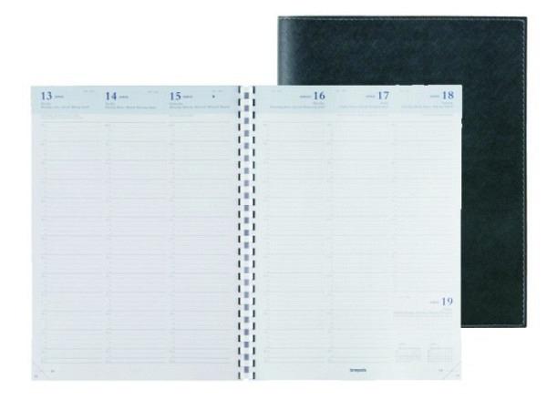 Agenda Brepols Omega 30 Calpe schwarz, 7 Tage auf 2 Seiten