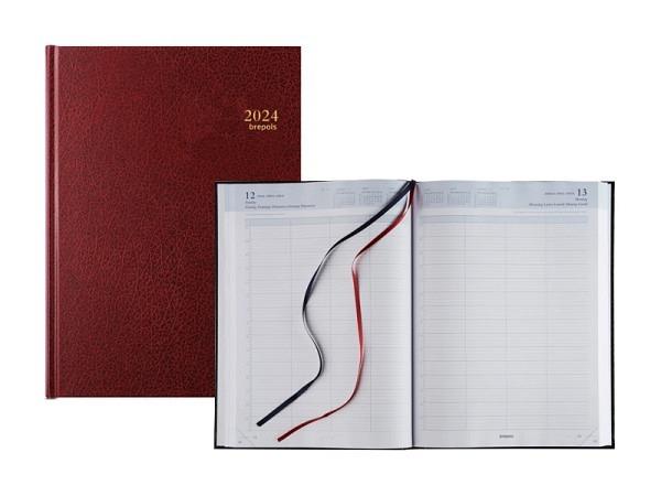 Agenda Brepols Bremax 2 Santex  schwarz, 1 Tag auf 2 Seiten
