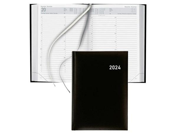 Agenda Biella Manager A5 1 Tag auf 1 Seite schwarz