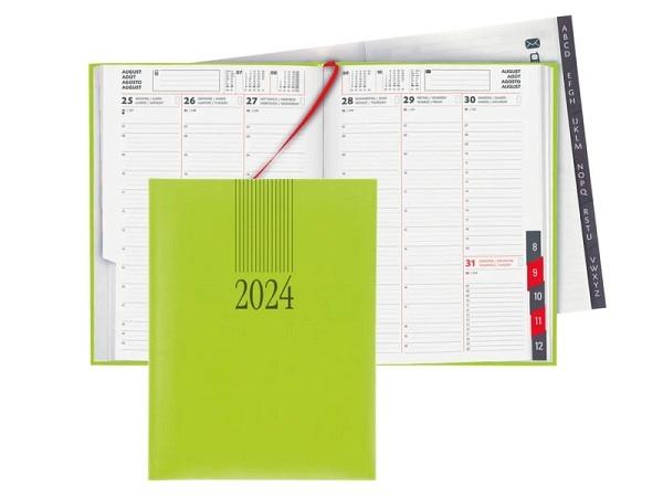 Agenda Biella Orario Kunststoff hellgrün 7 Tage auf 2 Seiten
