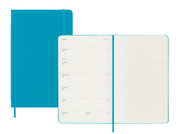 Agenda Moleskine Sommer Hardcover Large 7 Tage auf 1 Seite A5 Reifes Gelb