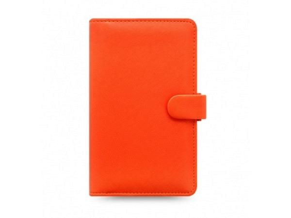 Ringbuch Filofax Personal Compact Saffiano bright orange