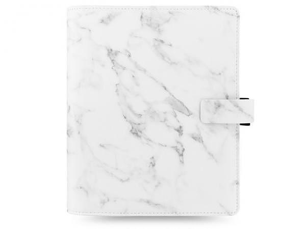 Ringbuch Filofax A5 Patterns Marble Marmor weiss