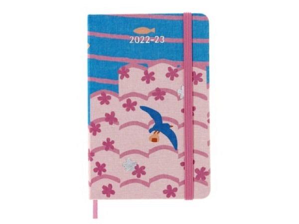 Agenda Moleskine Sommer Softcover Large 7 Tage auf 1 Seite A5 schwarz