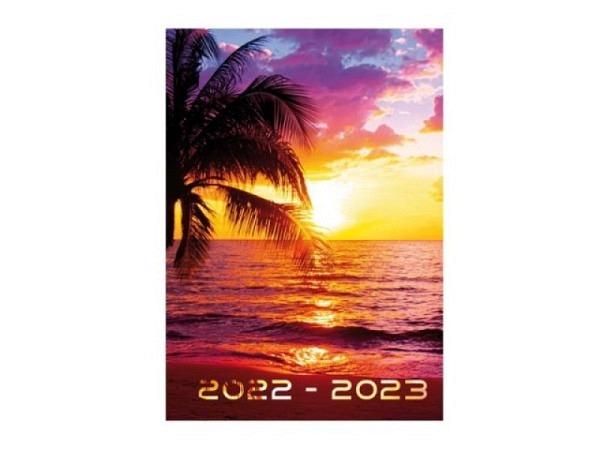 Agenda Techo Sommer A5 Sunset 7 Tage auf 2 Seiten