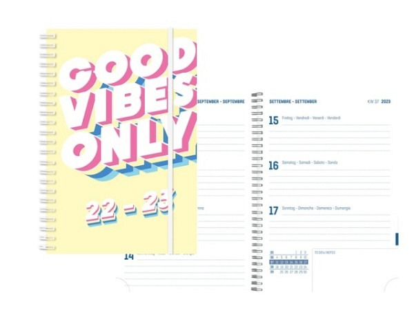 Agenda Simplex Sommer Emotions Weekly 8x12,5cm Flamingo