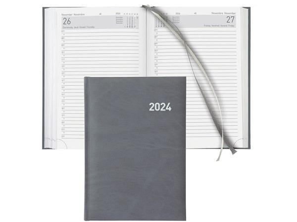 Agenda Biella Executive A5 1 Tag auf 1 Seite grau