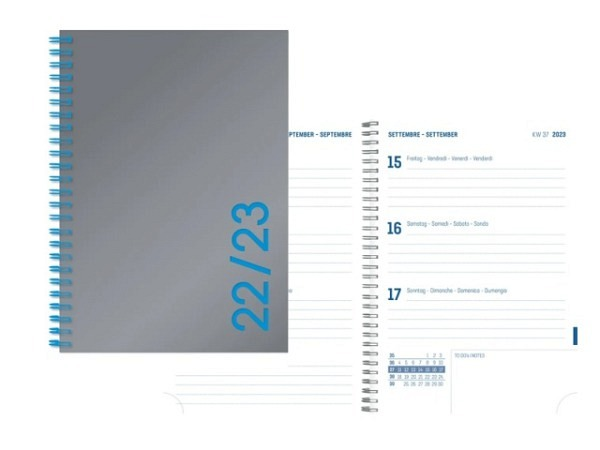 Agenda Simplex Sommer Colors Weekly 8x12,5cm silber