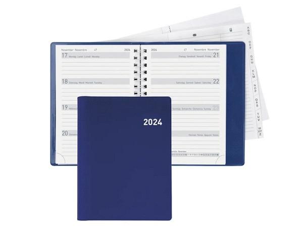 Agenda Biella Memento Wire-O blau 7Tage auf 2Seiten