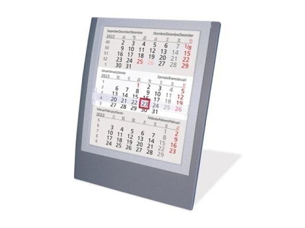 Tischkalender 3 Monate : tischkalender saturex 3 monate anthrazit silber ~ Watch28wear.com Haus und Dekorationen