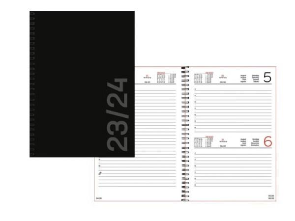 Agenda Simplex Sommer Teacher A5 schwarz, 1 Tag auf 1 Seite