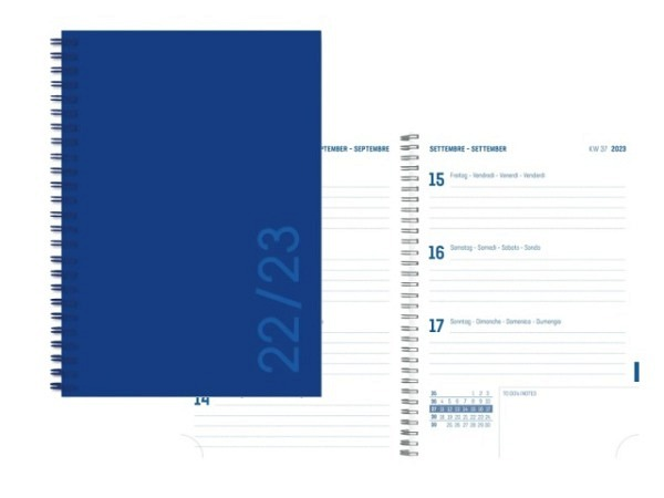 Agenda Simplex Sommer Colors Weekly 8x12,5cm true blue