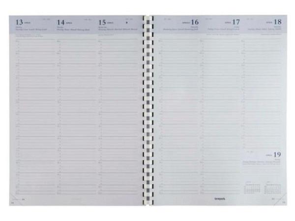 Agenda Brepols Omega 30 Einlage, 7 Tage auf 2 Seiten