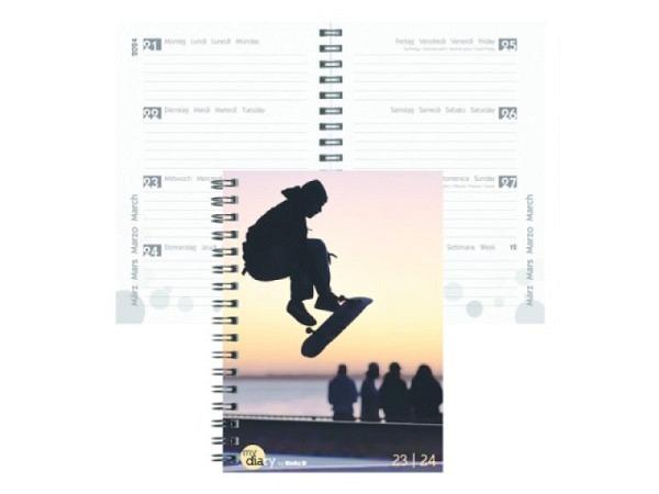 Agenda Biella Sommer Wire-O A6 Travel 7 Tage auf 2 Seiten