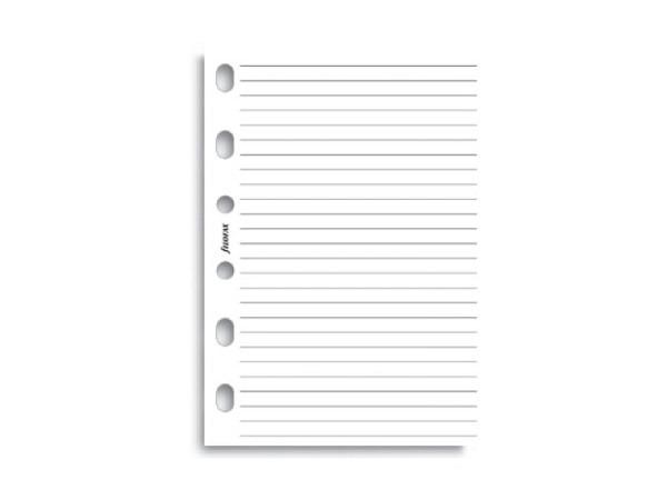 Einlage Filofax Pocket Notizblock liniert weiss 40 Blatt