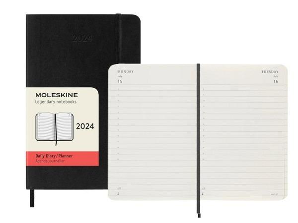 Agenda Moleskine Softcover Pocket 1 Tag auf 1 Seite schwarz