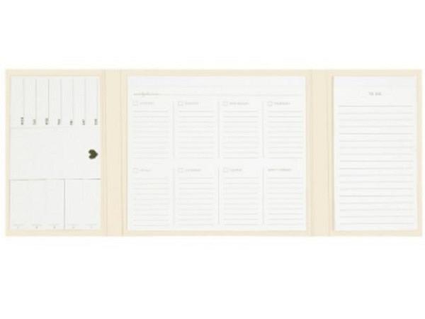 Agenda Hop Deskplanner ivory 19,5x23cm, der Planer besteht aus 50 Seiten für 50 Wochen und hat keine festen Daten