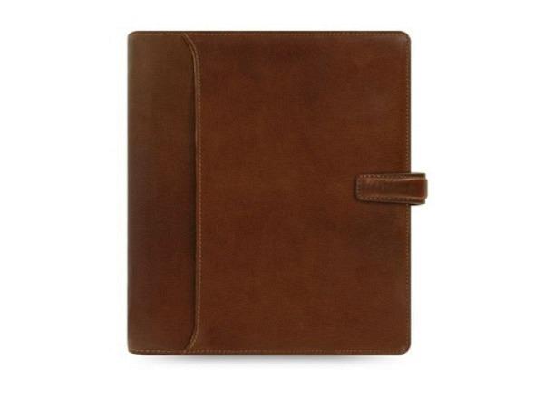 Ringbuch Filofax A5 Lockwood cognac, Rindleder