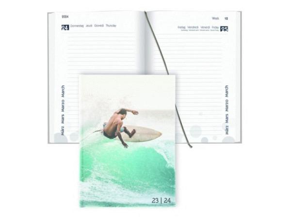 Agenda Biella Sommer laminiert Sport 1 Tag auf 1 Seite