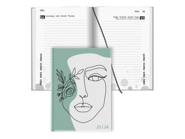 Agenda Biella Sommer laminiert Tropical 1 Tag auf 1 Seite<br>