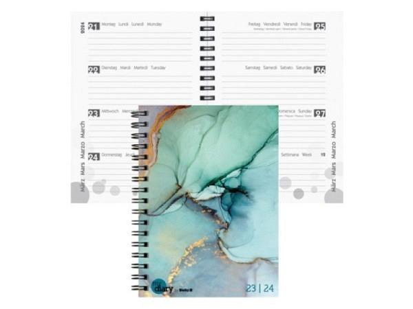 Agenda Biella Sommer Wire-O A6 Style 7 Tage auf 2 Seiten