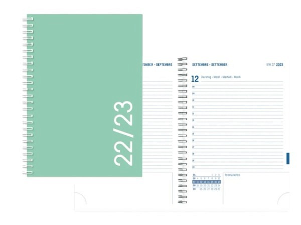 Agenda Simplex Sommer Colors Daily A6 green 1 Tag auf 1 Seite