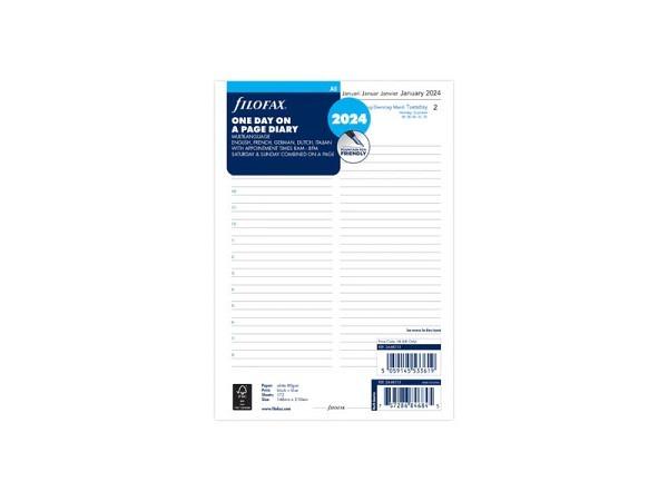Einlage Filofax A5 Size Kalendarium 1 Tag auf 1 Seite + Termine