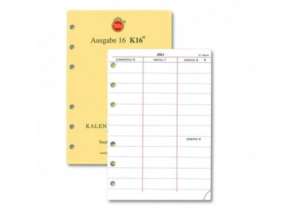 Agenda Tebe Jahresinhalt K16 7Tage auf 2 Seiten