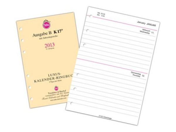 Agenda Tebe Jahresinhalt K17 2 Tage auf 1 Seite