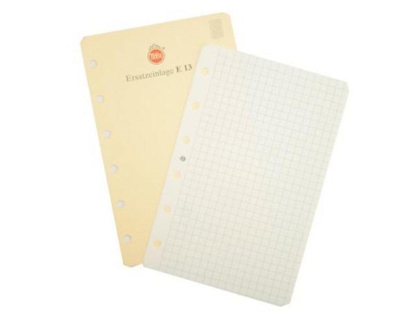 Agenda Tebe Einlage E13 Notizpapiereinlage kariert 8x12,5