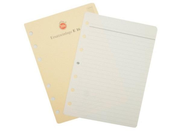 Agenda Tebe Einlage E16 Notizpapiereinlage liniert 10x15cm