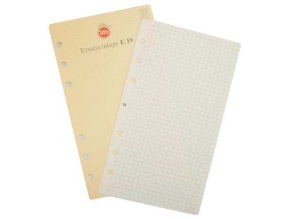 Agenda Tebe Einlage E19 Notizpapiereinlage kariert 9,5x17cm