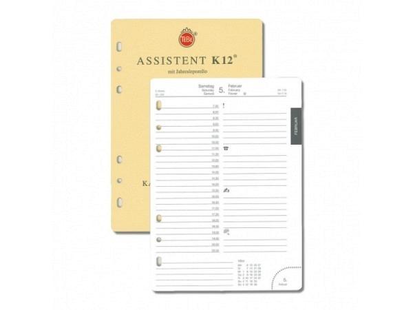 Agenda Tebe Jahresinhalt Assistent K12 1 Tag auf 1 Seite