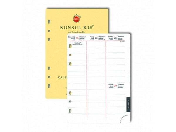 Agenda Tebe Jahresinhalt Konsul K15 7Tage auf 2Seiten