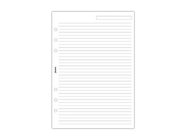 Einlage Filofax A5 Size Notizpapier liniert weiss 25 Blatt
