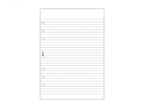 Einlage Filofax A5 Size Notizblock liniert weiss 100 Blatt