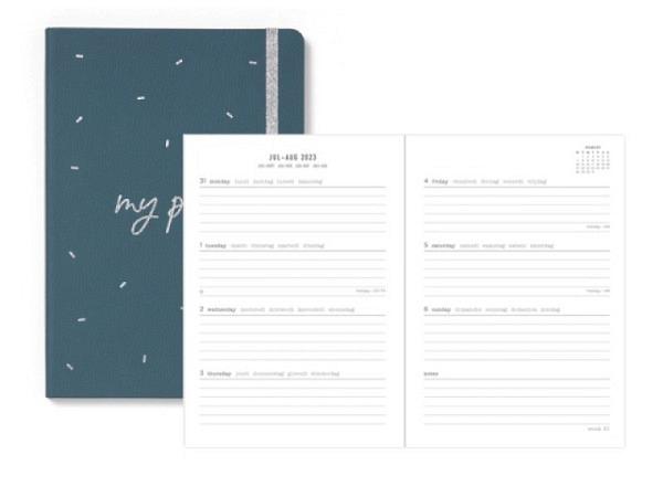 Agenda Letts Sommer Sketch A5 Orange 7 Tage auf 2 Seiten