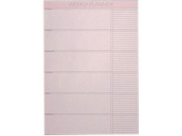 Abreisskalender Vissevasse Notepad A4 Weekly Wochenplaner weiss, immerwährend