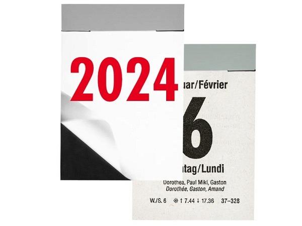 Abreisskalender Biella Block 2,  4,1x5,9cm hoch