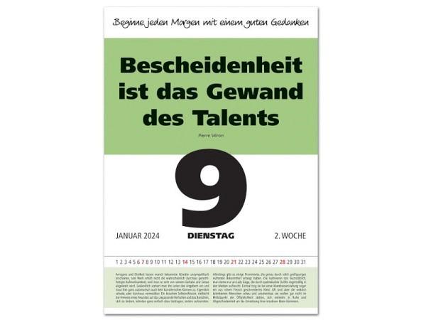 Abreisskalender Leitspruch-Kalender 1 Tag auf 1 Seite, 28x40cm