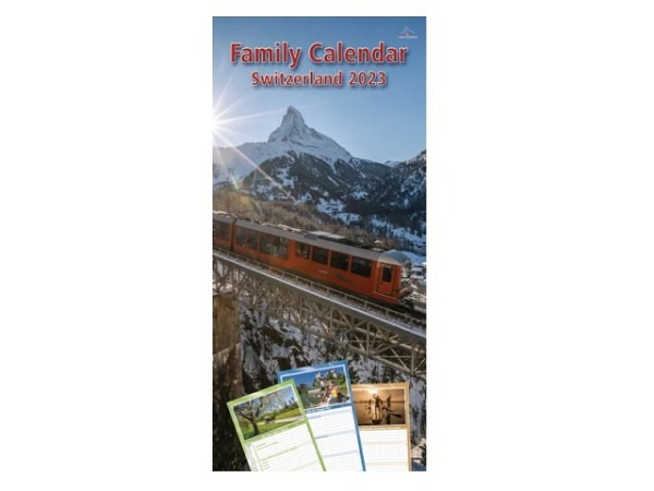 Familienplaner Family Calendar Switzerland 23,5x50cm