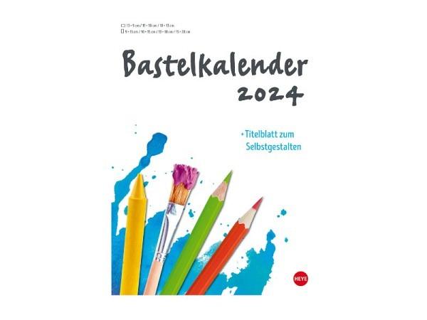 Bastelkalender Heye zum Selbstgestalten, A4 weiss