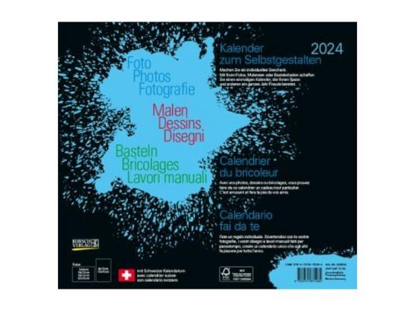 Bastelkalender Korsch Foto, Malen, Basteln schwarz 24x21,5cm