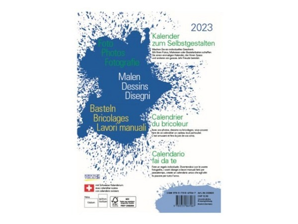 Bastelkalender Korsch Foto, Malen, Basteln weiss 15x21cm