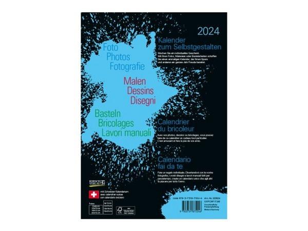 Bastelkalender Korsch Foto, Malen, Basteln schwarz 21x29,7cm