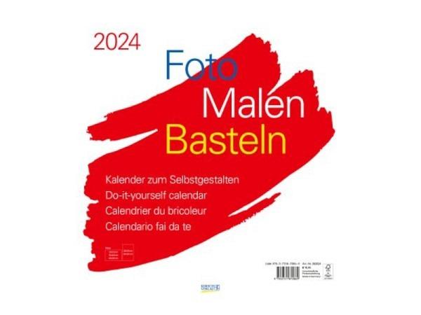 Bastelkalender Korsch Foto, Malen, Basteln weiss 45,5x48cm