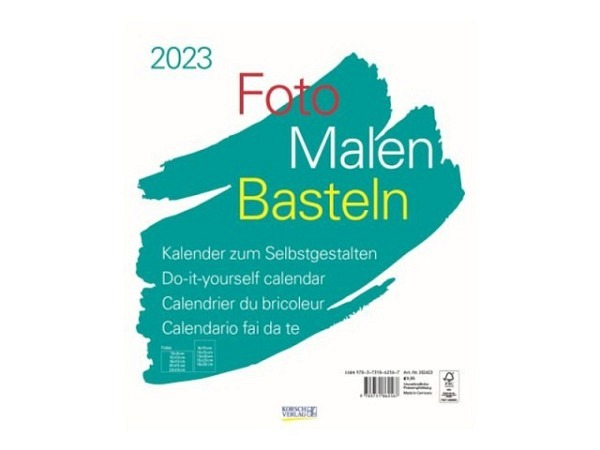 Bastelkalender Korsch Foto, Malen, Basteln weiss 30x35cm
