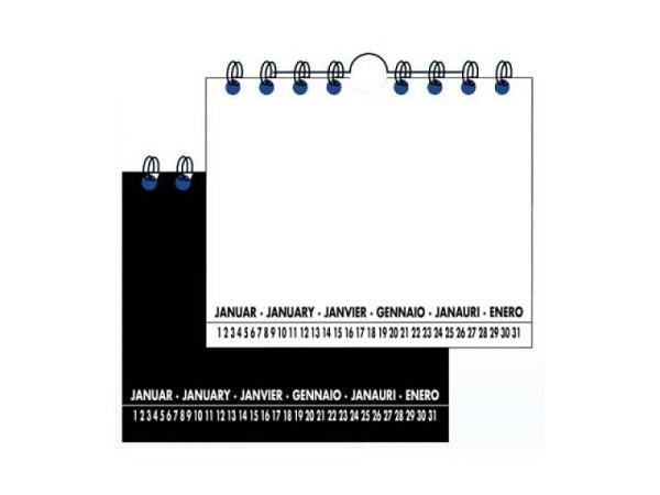 Bastelkalender Single Verlag Duo 14x17cm weiss/schwarz